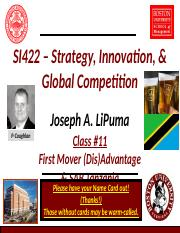 Lecture 11 - First Mover Advantage (SAB Tanzania Case).pptx