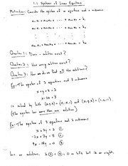 340 Notes Chapter 3 Systems of Equations Linear