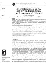 Internalization of costs, liability and negligence, performance and reliance.pdf