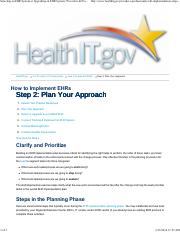 Step 2 - Plan Your Approach to Implement and EHR System.pdf