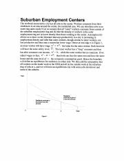 Suburban Employment Centers