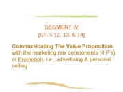Ch. 12 Promotional Strategy & Integrated Marketing Communication