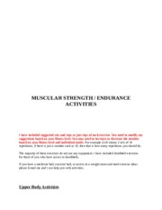 Muscular Strength-Endurance Activities (1)