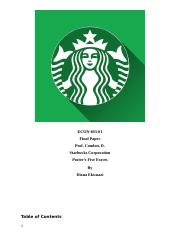Starbucks Porters Five Forces Analysis.docx