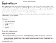 Brand architecture - Wikipedia, the free encyclopedia