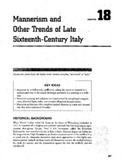 Chapter 18 Mannerism and Other Trends of Late 16th Century Italy AP Art Study Guide