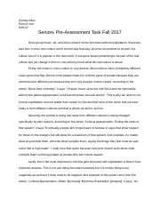 Seniors Pre-Assessment Task Fall 2017.docx