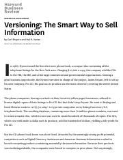 Versioning_ The Smart Way to Sell Information