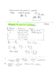 Chpt 9 and 10 Volume Pressure and Temp Notes