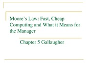Chapter 5 Gallaugher -- Moores Law Notes
