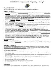 #2 101 CONCEPT Research Essay 2014