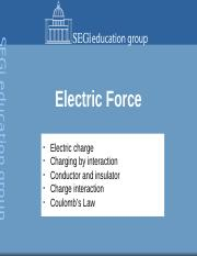 3. Electric Force
