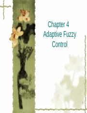 Chapter 4 Adaptive Fuzzy Control