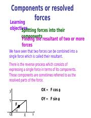 Components or resolved forces.ppt