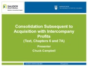 5. Consolidation Subsequent to Acquisition with Intercompany Profits