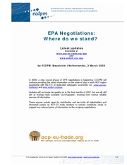 ECDPM_03-03-08_EPA Negotiations - Where do we stand_final