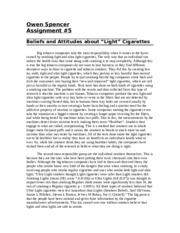 "Assignment #5 - Beliefs and Attitudes about ""Light"" Cigarettes .docx"