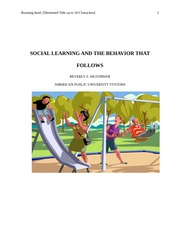 Social Learning BY Beverly Mustipher
