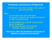Lecture 2 - Distribution and diversity