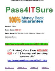 [2017-New!] Pass4itsure Cisco Exam 400-101 PDF.pdf
