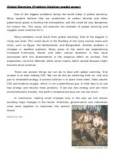 global warming essay writing instructions