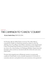 "The Campaign to ""Cancel"" Colbert - The New Yorker"