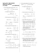 Exam 4 Version B Spring 2013 on Differential Equations