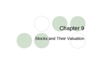 stocks and valuation