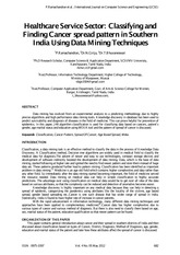 Weka_Classifying and Finding Cancer spread pattern in Southern India Using Data Mining