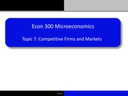 Topic 7- Competitive Firms and Markets