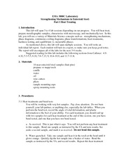 Laboratory strengthening mechanisms part 1