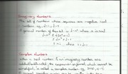 Imaginary and Complex Numbers