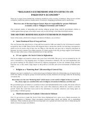 Religion Extremism and Violence (1).docx