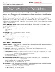 Chapter 6 REVIEW DNA Mutation ANSWER KEY.pdf