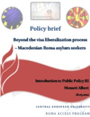 Beyond the visa liberalization process - Macedonian Roma asylum seekers