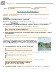 Gizmo Carbon Cycle SE.pdf - Name Skyleigh Miller Date ...