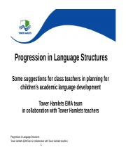 Progression in language structures Tower Hamlets.doc