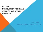 [HSCI 120] Lecture 1 (Introduction to Human Sexuality and Sexual Behaviour)