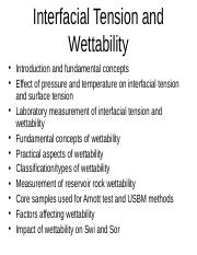 6. Interfacial tension and wettability.ppt