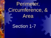 1-7 Perimeter, Circumference, and Area