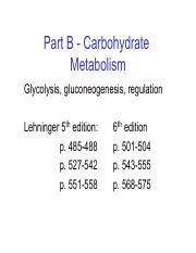 Notes C1-Carbohydrate Metabolism