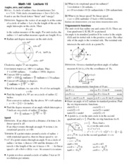 notes-arcs and radians