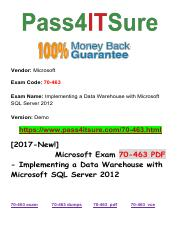 New Pass4itsure Microsoft 70-463 PDF Exam.pdf