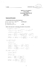 Solution Exam 1 Sp 11