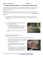 Photosynthesis Leaf Disk lab 2020-2021 my work.docx