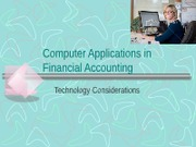 Computer Applications in Financial Accounting
