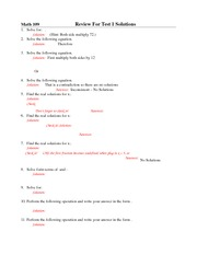 Solutionl_Review 1 Math109