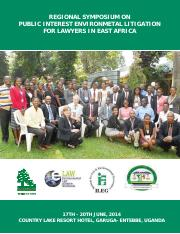 Regional Symposium on Public Interest Environmental Litigation in EastAfrica