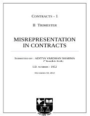 257116918-Misrepresentation-in-Indian-Contract-Law.docx