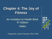 concepts of wellness ch4 the joy of fitness